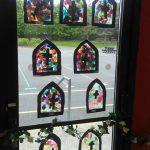 Children's Art work on display.